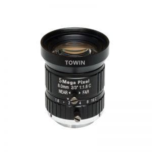 C0802316M5 8mm industrial C-mount lens