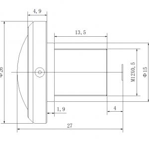 Fisheye lens, M12 lens CCL123016MP