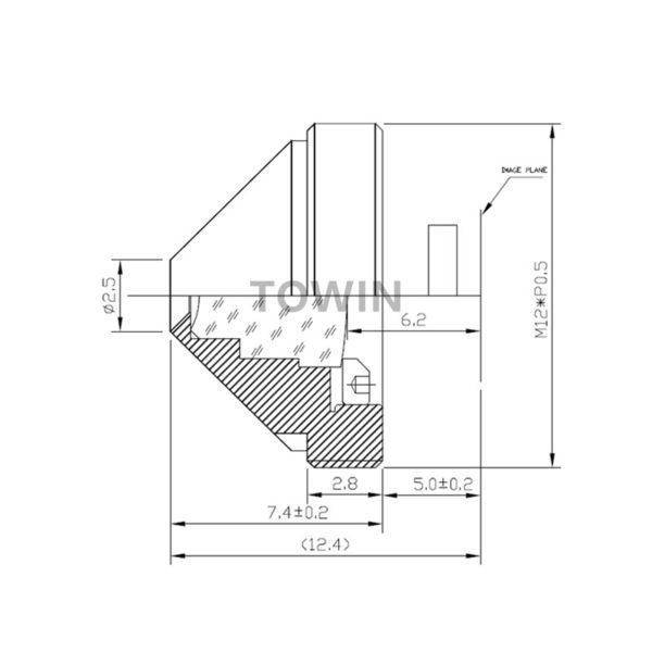CCL13060PMPR 6mm pinhole M12 S-mount CCTV board lens-1