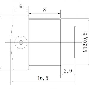 M12 S-Mount lens, wide angle lens CCL13027MPF