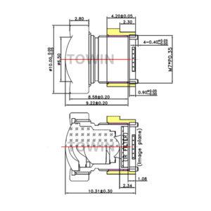 CCL15016F Low distortion wide angle 100° M7 mount lens for OV7740 CCTV surveillance short TTL