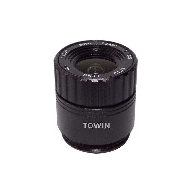 CCL117050MPCS CCTV lens 5mm wide angle IR corrected CS mount lens 12MP IMX226 F2.0 day night fixed Iris