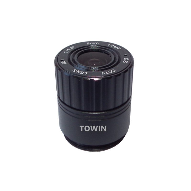 CCL117080MPCS CCTV lens 8mm IR corrected CS mount lens 12MP IMX226 F1.8 day night security fixed Iris