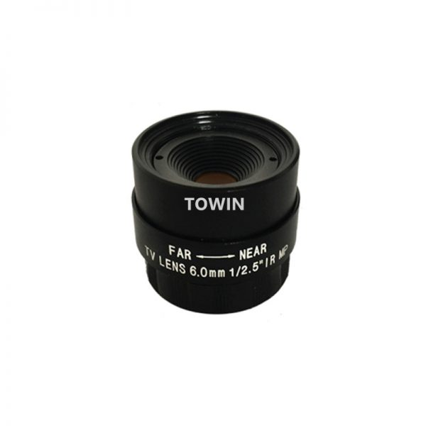CS06012505618 CCTV lens 6mm low light F1.8 IR correct CS mount lens fixed Iris day night surveillance